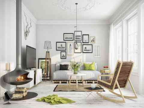 Adorable Art Walls Living Room Design