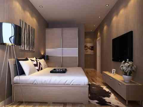 Adorable Bedroom Art Wall Lcd Cabinet And Wardrobe Design