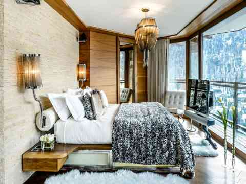 Adorable Bedroom Interior Design Chalet Zermatt Peak