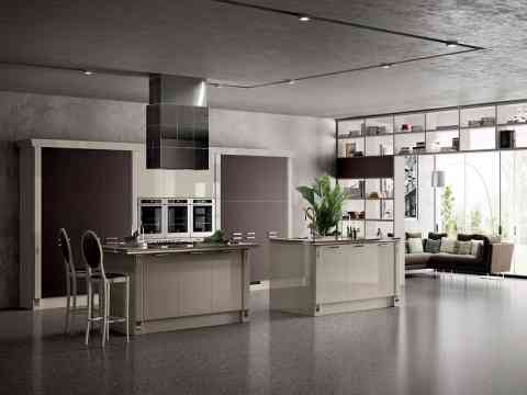 Alluring Italian Kitchen Cabinet And Storage Shelves Design