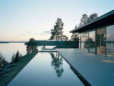 Amazing Pool Lake View House Sweden