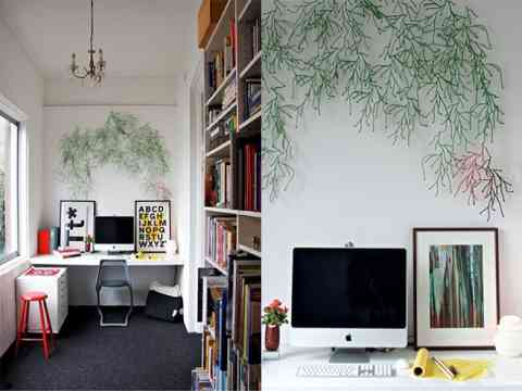 Art Wall Small Office Furniture Design