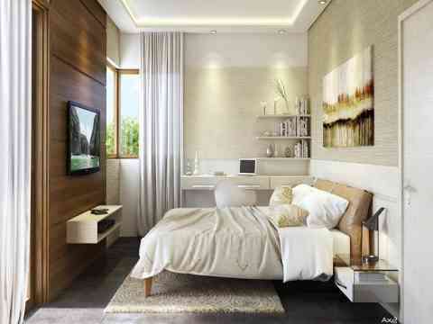 Beautiful Bedroom And Lcd Cabinet Design
