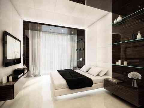 Beautiful Bedroom LCD Cabinet Design Idea