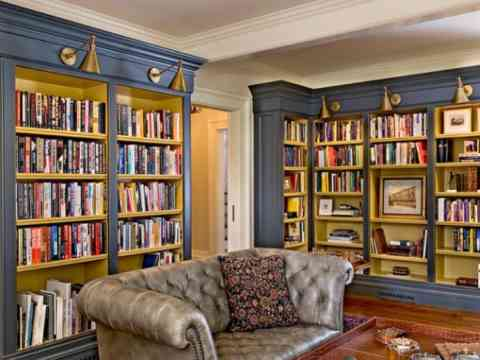 Beautiful Home Artistic Library Design