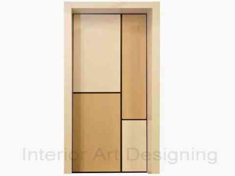 Beautiful Two Color Door Design