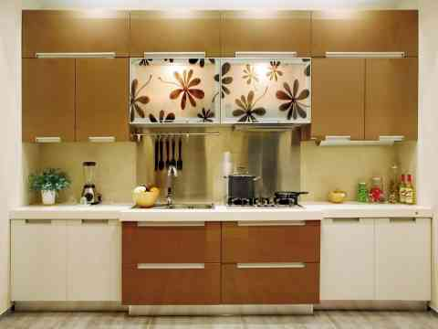 Beautiful White And Brown Kitchen Cabinet Design