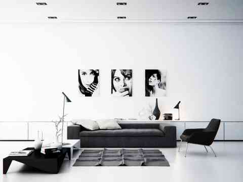 Black And White Artsy Wall Design