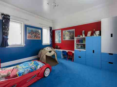 Blue And Red Theme Boys Room Design