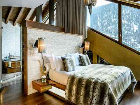 Chalet Zermatt Peak Bedroom Interior Design