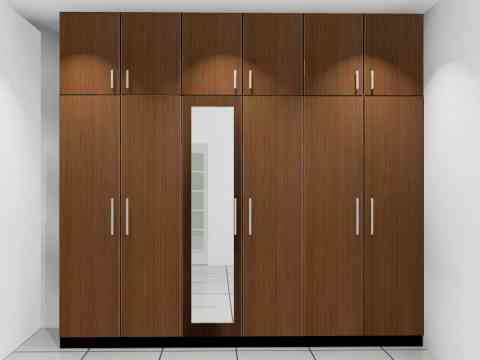 Fixed Wardrobe Design With Glass