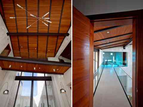 Glass Balustrade Bridge And Vaulted Ceiling