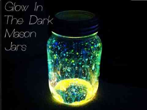 Glowing Mason Jar