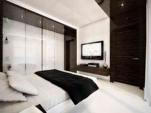 High Gloss UV Wardrobe And LCD Cabinet Beautiful Interior Design
