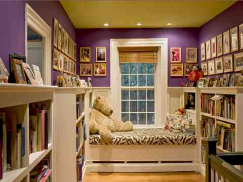 Kids Library And Bedroom Design