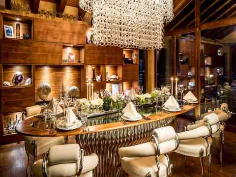 Luxury Round Dining Table Six Star Chalet Switzerland