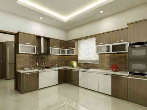 Luxury Stylish Kitchen Cabinet And Ceiling Design