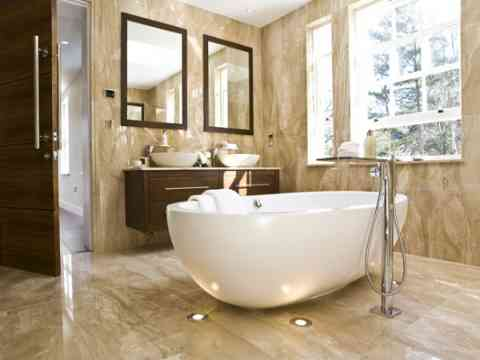 Modern Bathroom Interior Beautiful Bathtub Design