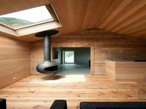 Modern Fire Place And Wooden Flooring Design