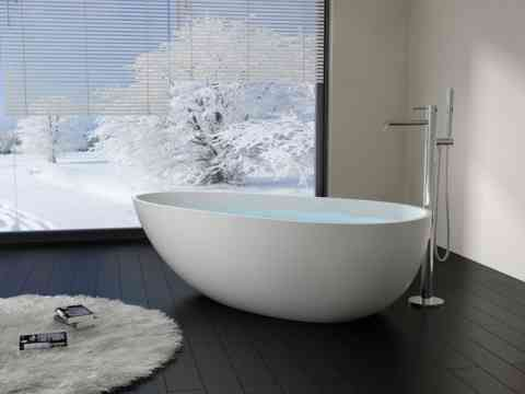 Modern Oval Shape Bathtub Design