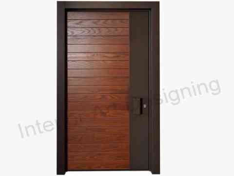 Modern Stripes Door Design