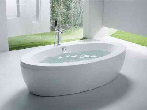 New Oval Shape Free Standing Bathtub Design