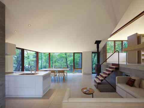 Open Kitchen And Dining Space Home Japan