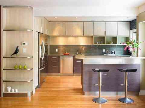 Outstanding Open Kitchen Cabinet Design