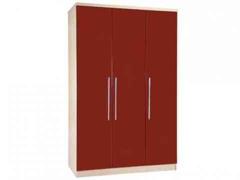 Red Three Doors Wardrobe Design