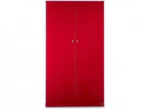 Red Two Door Wardrobe Design