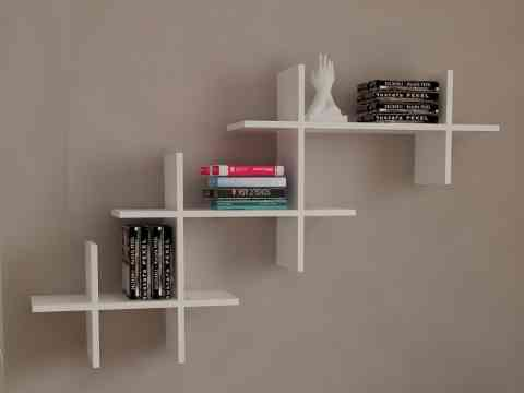 Simple Wall Storage Shelves Design