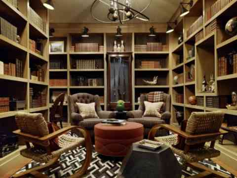 Sophisticated Home Library Design Idea