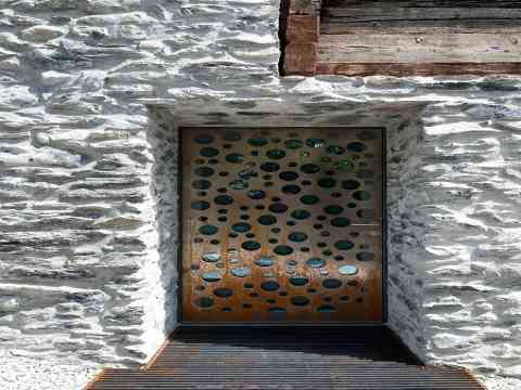 Stones Wall Metal Door Vetroz Switzerland