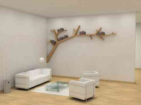 Tree Branches Shape Wall Unit Desigh