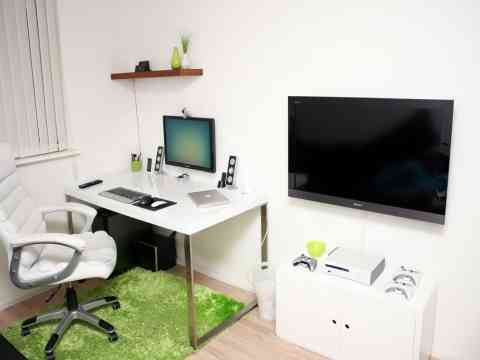 White Room Green Rug Office Furniture Design