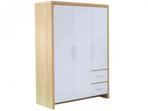 Wooden Three Door Free Standing Wardrobe Design