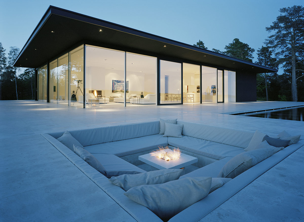 Beautiful Fire Pit Lake House Sweden