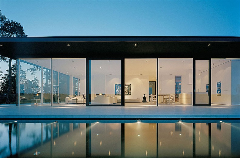 Glass Walls Lake House Sweden