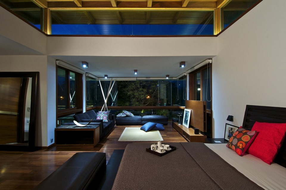 Luxury Bedroom With Living Space Interior