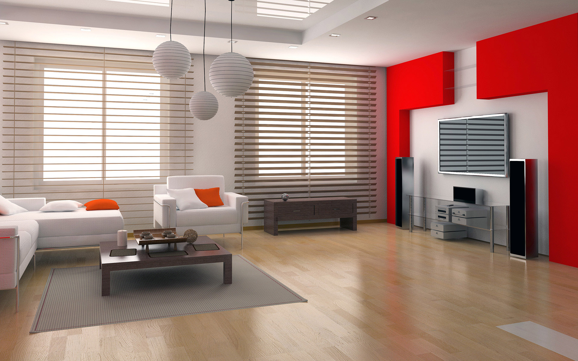 Modern LCD Unit Design For Living Room