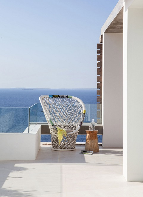 Sea View From Terrace  And Chair Design