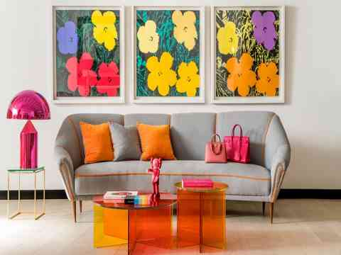 Colorful Living And Sitting Area Interior